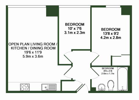 123 Apartments in Maidstone Floor Plan